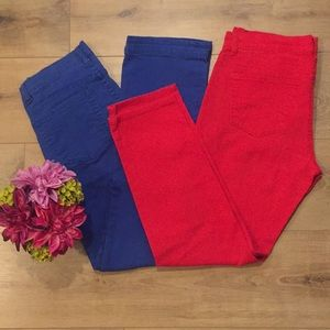 FOCUS Lifestyle Red & Blue Jeans Size 4